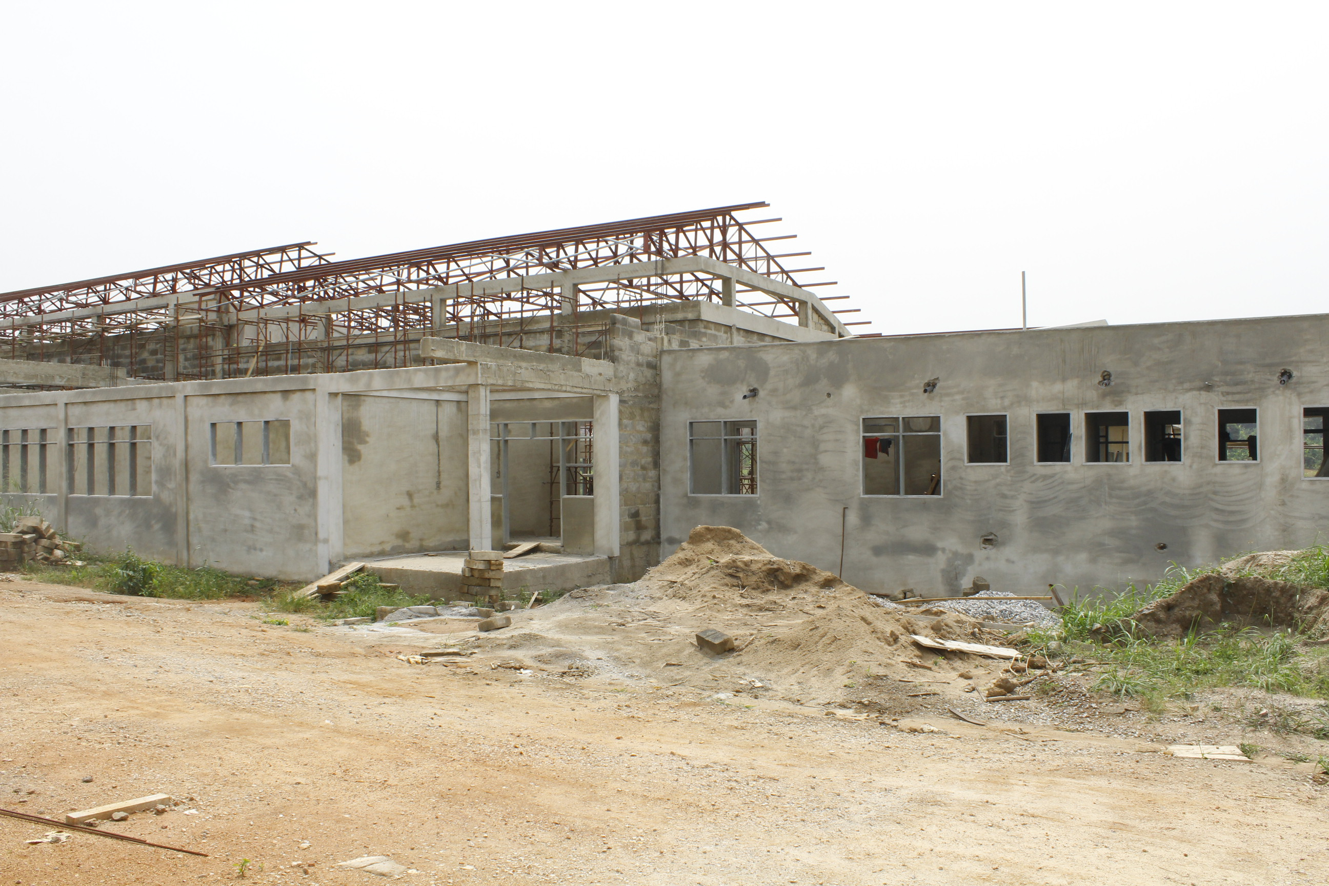 The back view of the Construction Block