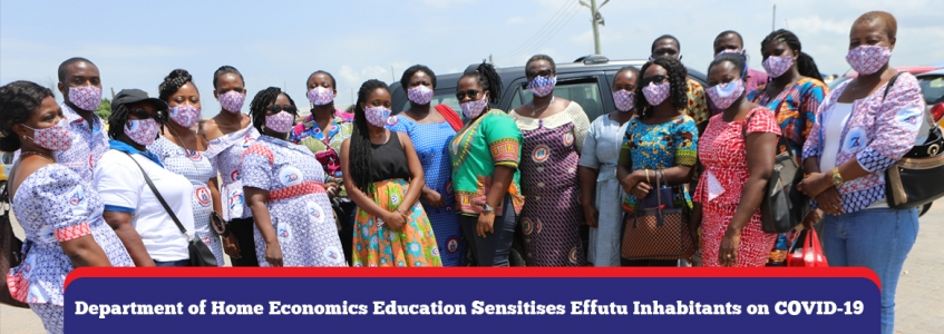 Department of Home Economics Education Sensitises Effutu Inhabitants on COVID-19