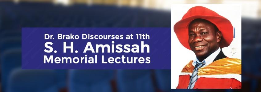 Dr. Brako Discourses at 11th S. H. Amissah Memorial Lectures