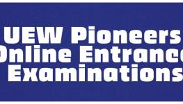 UEW Pioneers Online Entrance Examinations