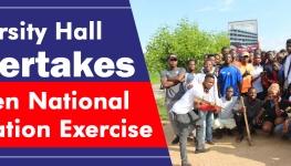 University Hall Undertakes Maiden National Sanitation Exercise