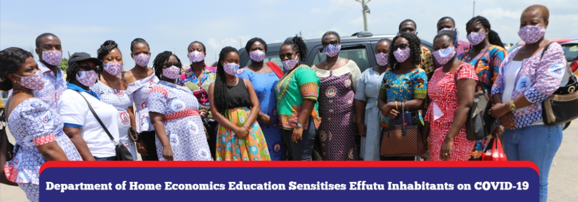 Department of Home Economics Education Sensitises Effutu Inhabitants on COVID-19
