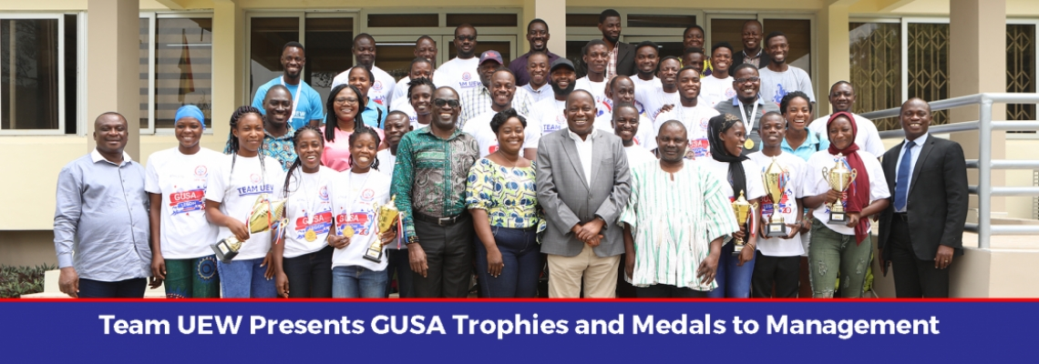 Team UEW Presents GUSA Trophies and Medals to Management