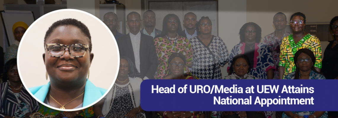 Head ofURO/Mediaat UEWAttains National Appointment